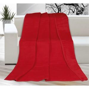 červená akrylová deka