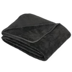 deka z mikrovlákna a mikroplyšu čierna